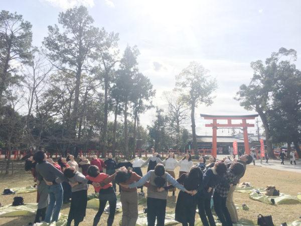 上賀茂神社 新嘗祭 紅葉ヨガ