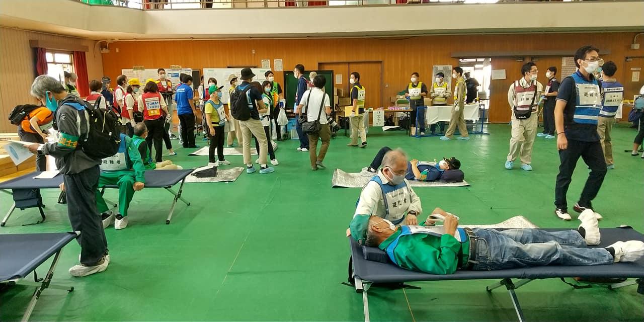 防災士の活動3 避難所設置・運営訓練