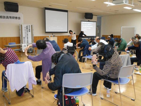 障害者相談員研修で心の防災ヨガ講座
